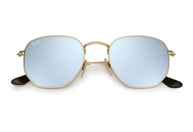 Ray Ban Hexagonal Flat Lens Sunglasses