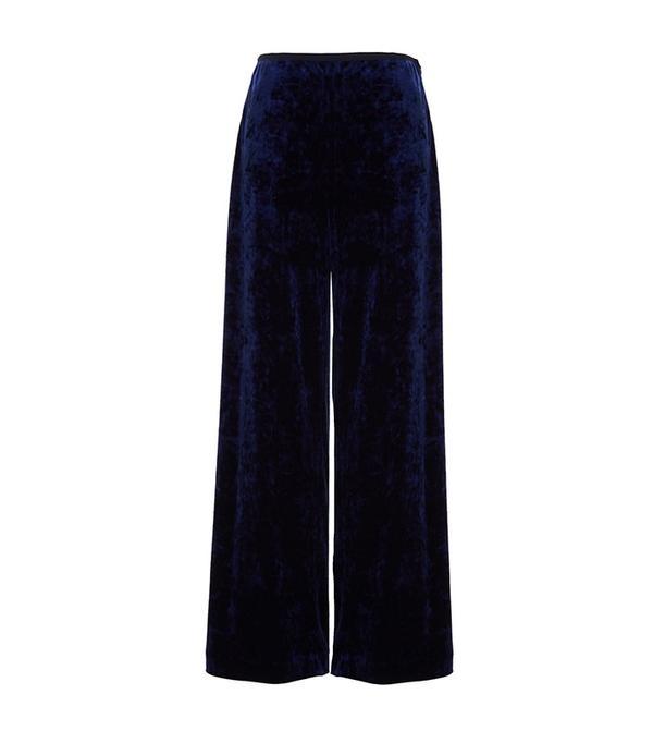 Tibi Stretch Velvet Easy Pants