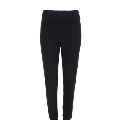 Wool Jersey Ribbed Track Pants