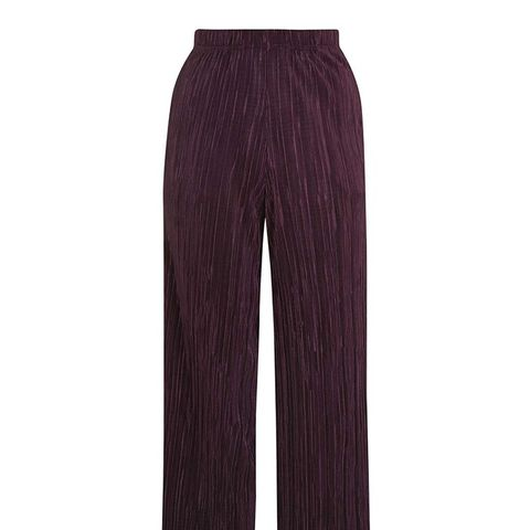 Pleated Awkward Length Trousers