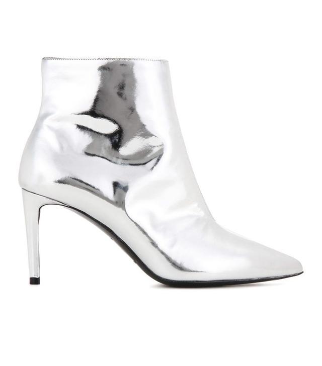 Balenciaga Metallic Leather Ankle Boots