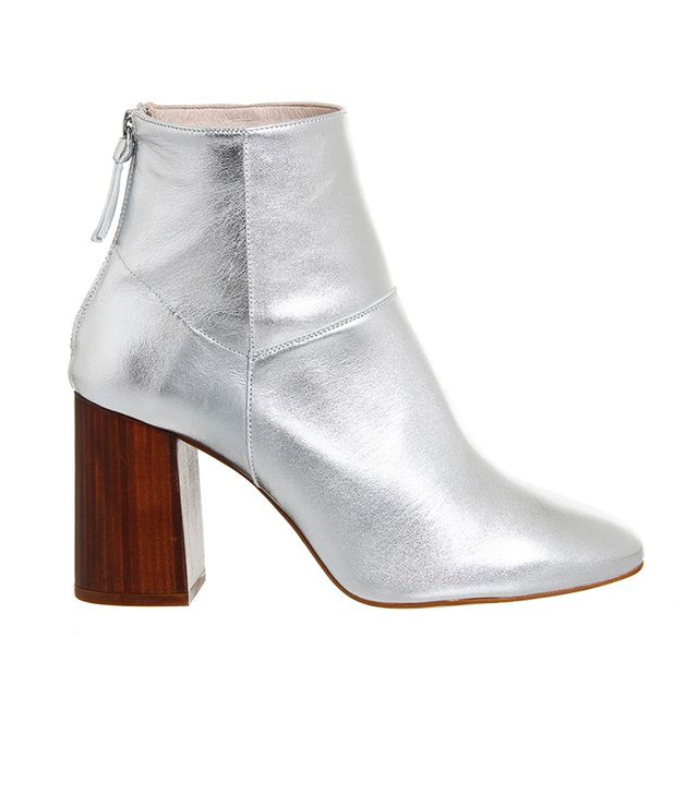 Office Lavender Block Boots