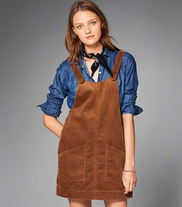 Abercrombie & Fitch Corduroy Pinafore Dress