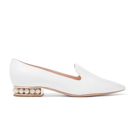 Casati Embellished Leather Loafers