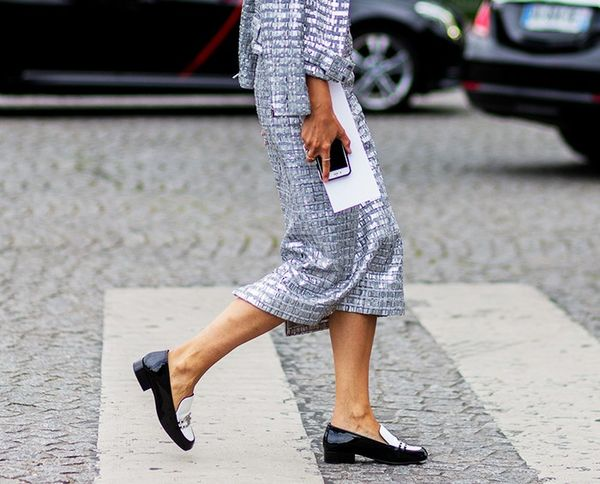 Street style, loafers