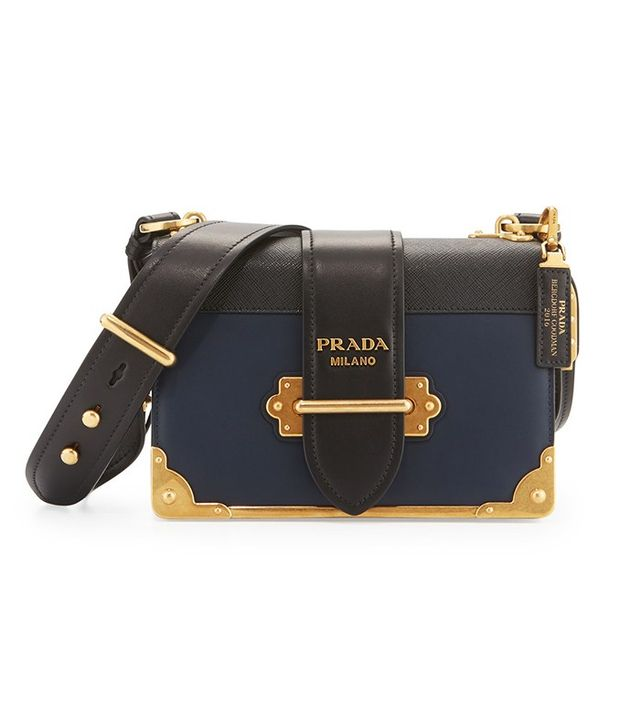 Prada Leather Trunk Shoulder Bag
