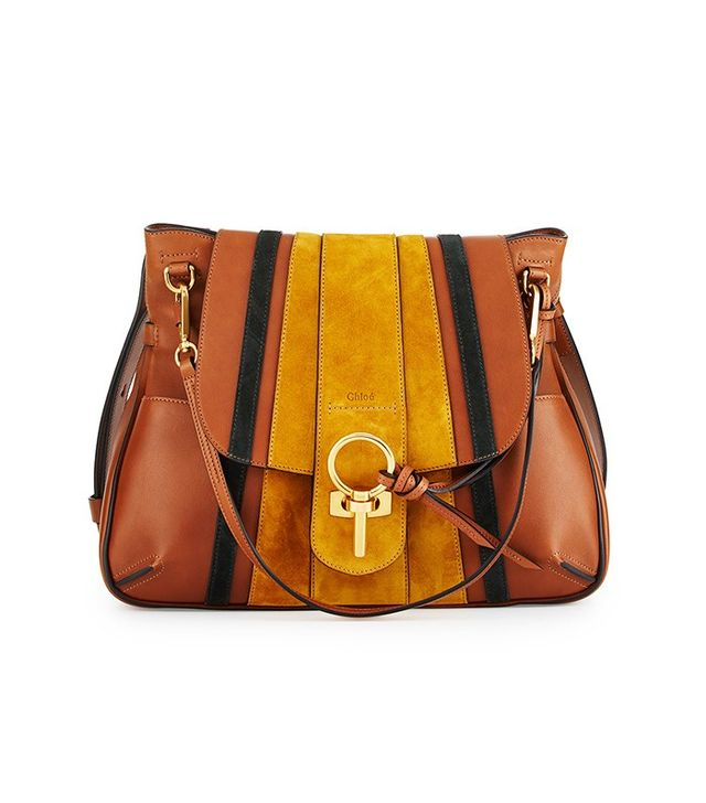 Chloé Lexa Striped Medium Shoulder Bag