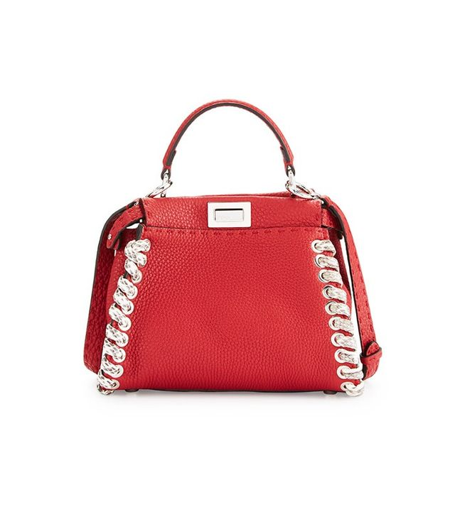 Fendi Selleria Peekaboo Mini Whipstitch Satchel Bag