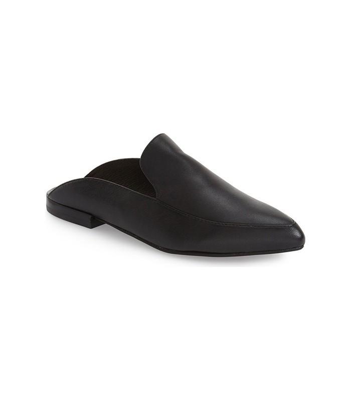 Kristin Cavallari Capri Mule in Black Leather