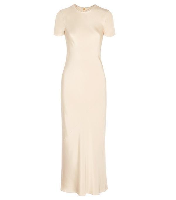 Tibi Silk-Satin Maxi Dress