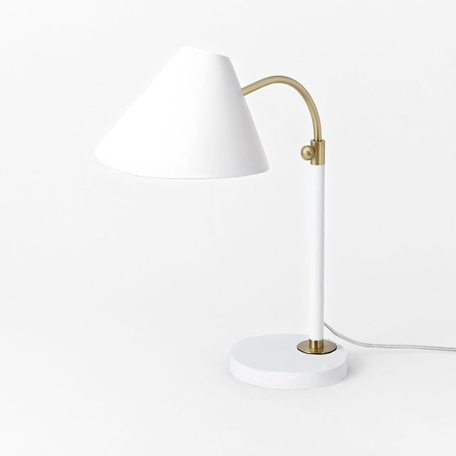 West Elm Mid-Century Task Table Lamp - White