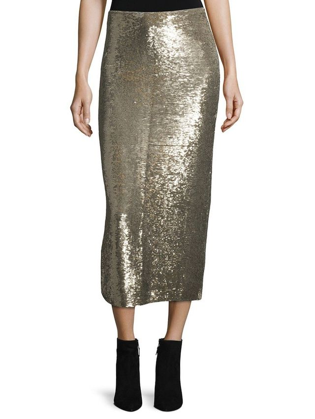 IRO Bump Sequin Midi Skirt