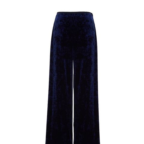 Stretch Velvet Easy Pants