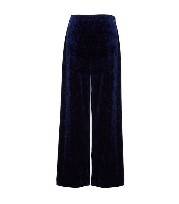 Tibi Stretch Velvet Easy Pants