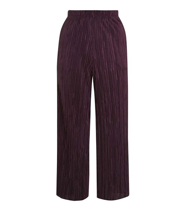 Topshop Pleated Awkward Length Trouser