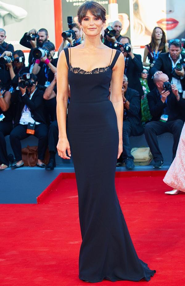 WHO:Gemma Arterton WEAR:Stella McCartney dress.