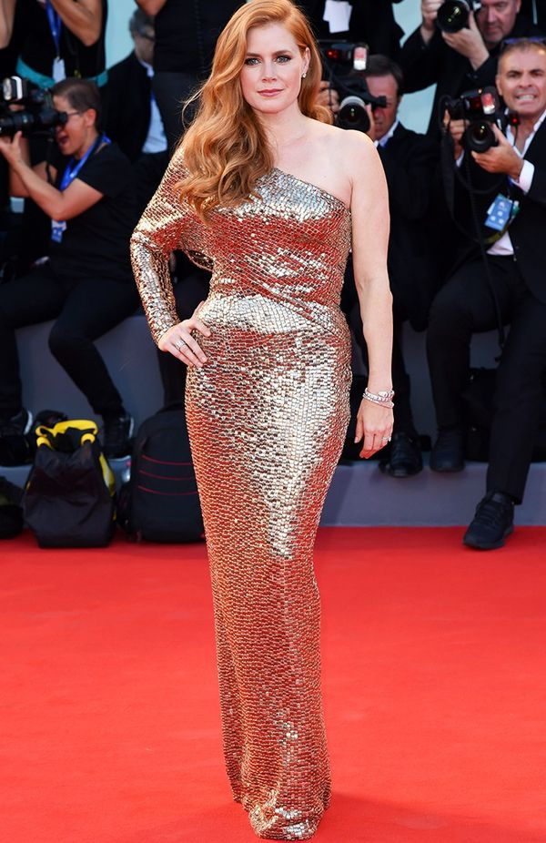 WHO: Amy Adams WEAR: Tom Ford dress.