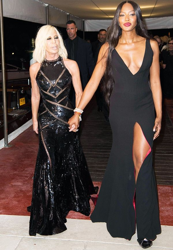 WHO: Donatella Versace and Naomi Campbell WEAR: Both in Versace.