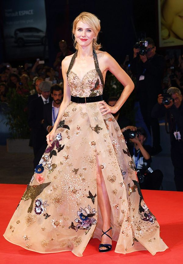 WHO: Naomi Watts WEAR: Elie Saab Couture dress; Jimmy Choo heels.
