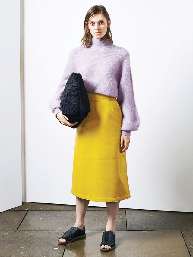 This look will be dropping in mid-October. Fashion editors have been practically doing cartwheels and selling their grandmothers to get the new collection into their magazine shoots/online...