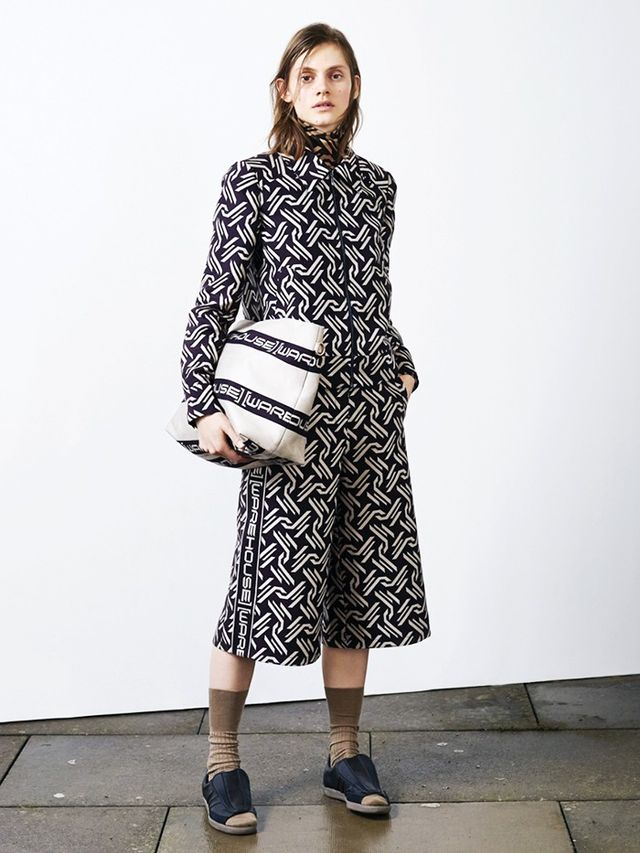 Warehouse Monogram Jacket(£99) andMonogram Trousers(£89). The bag will launch later in the season. Zebra wrap skirts, gigantic teddy coats, popper trousers, slinky...