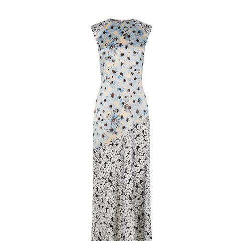 Daisy Fluted Hem Silk Dress