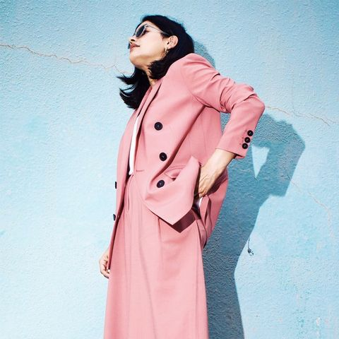 Autumn Outfit Ideas: Pink Suit
