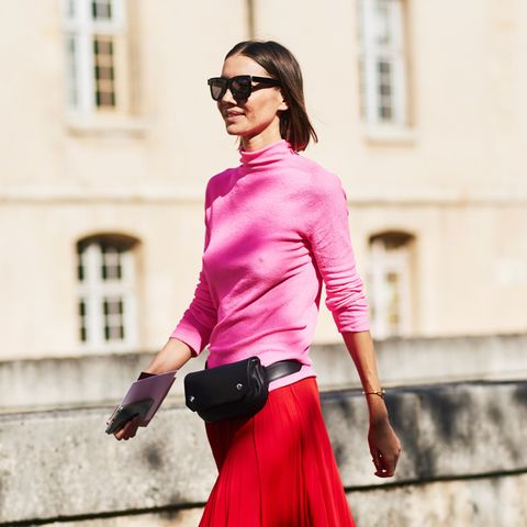 Autumn Outfit Ideas: Pink and red