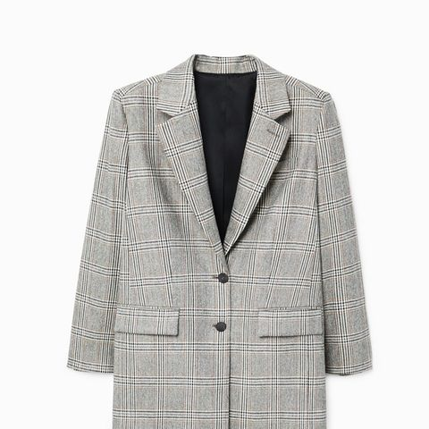 Prince of Wales Wool-Blend Blazer