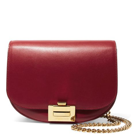 Box Chain Leather Shoulder Bag