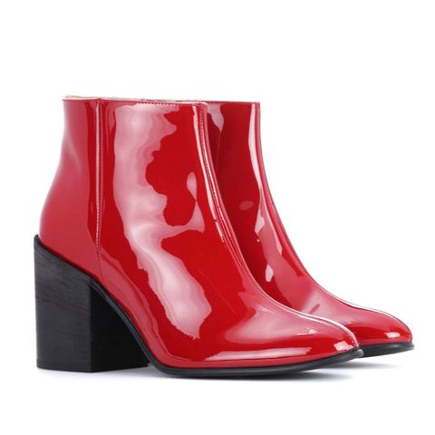 Beth Patent Leather Ankle Boots