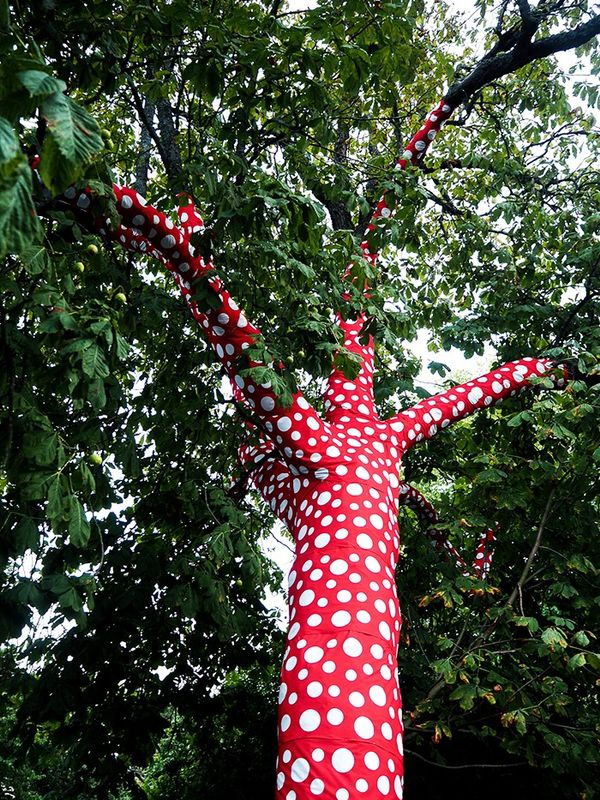 """""""The Museum of Modern Art was the setting for some of the most innovative, creative shows I've seen including Amaze and Diana Orving. Loved the Yayoi Kusama–designed trees in and around the..."""