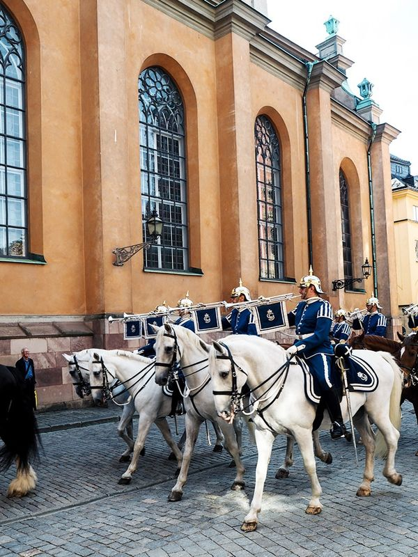 """""""A brief interlude from the shows in Stockholm's old town, Gamla Stan."""""""