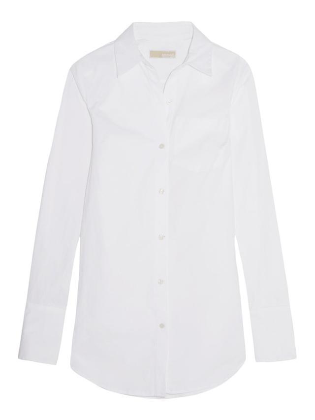 MICHAEL Michael Kors Stretch-Cotton Poplin Shirt