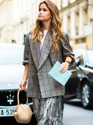 This Street Style Look Shows How to Wear Sequins to Work