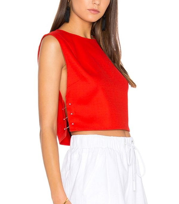 Kendall + Kylie Sleeveless Pierced Top