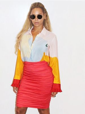 What Beyonce Wears for a Casual Day of Shopping