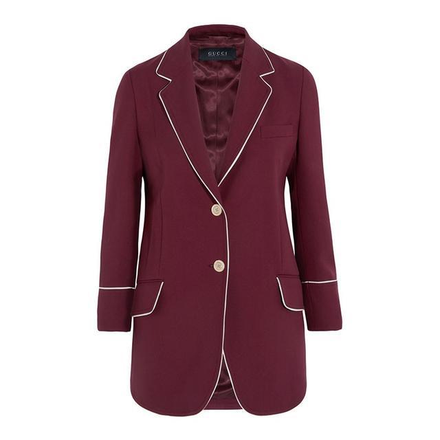 Gucci Silk-Trimmed Blazer