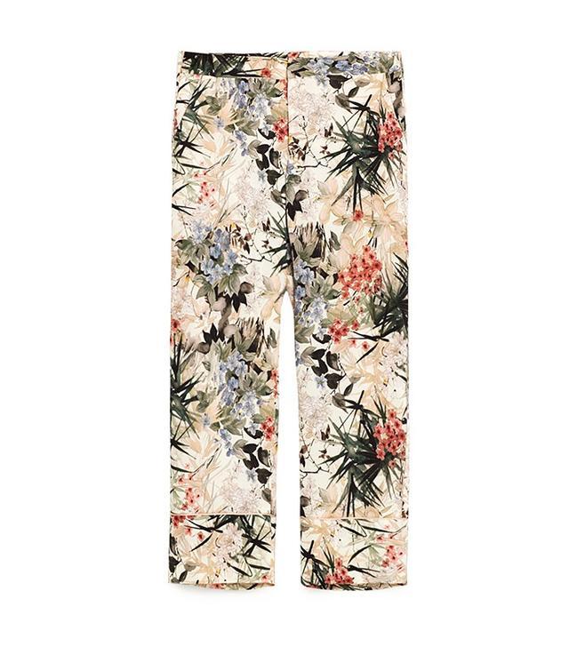 Zara Pajama Style Floral Print Trousers