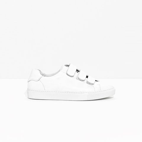 Scratch Strap Leather Sneaker