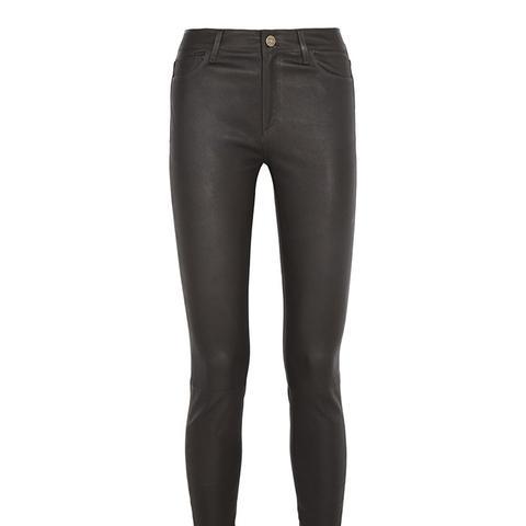 Bridge Stretch-Leather Skinny Pants