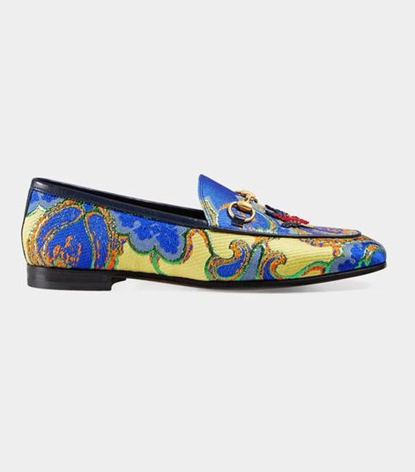 Gucci New Jordaan Floral-Jacquard Loafer
