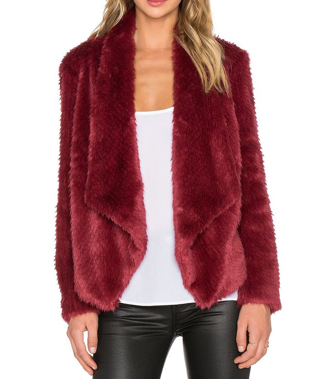 Bardot Waterfall Faux Fur Jacket
