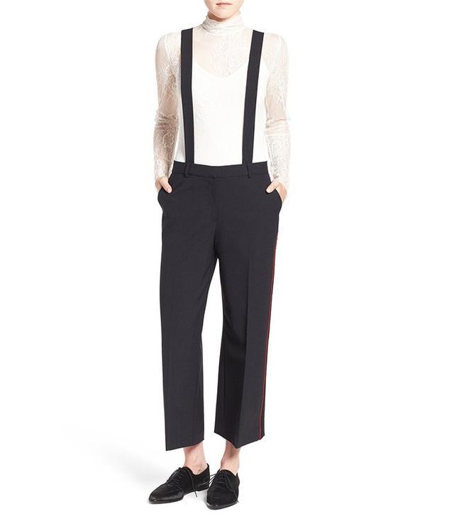 Olivia Palermo + Chelsea28 High Rise Crop Suspender Pants
