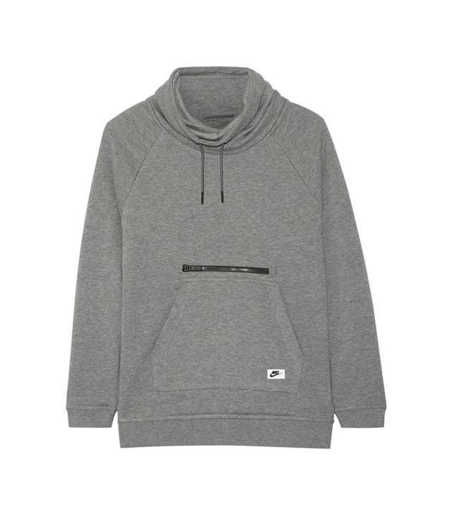 Nike Cotton-Blend Jersey Turtleneck Sweatshirt