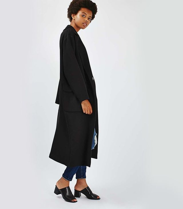 Topshop Textured Slouchy Duster Coat