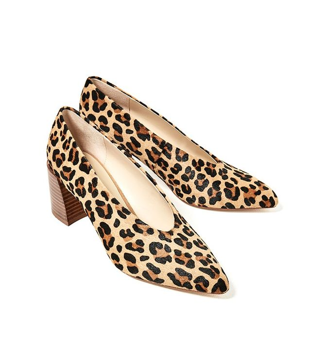 Zara Printed Leather High Heel Shoes