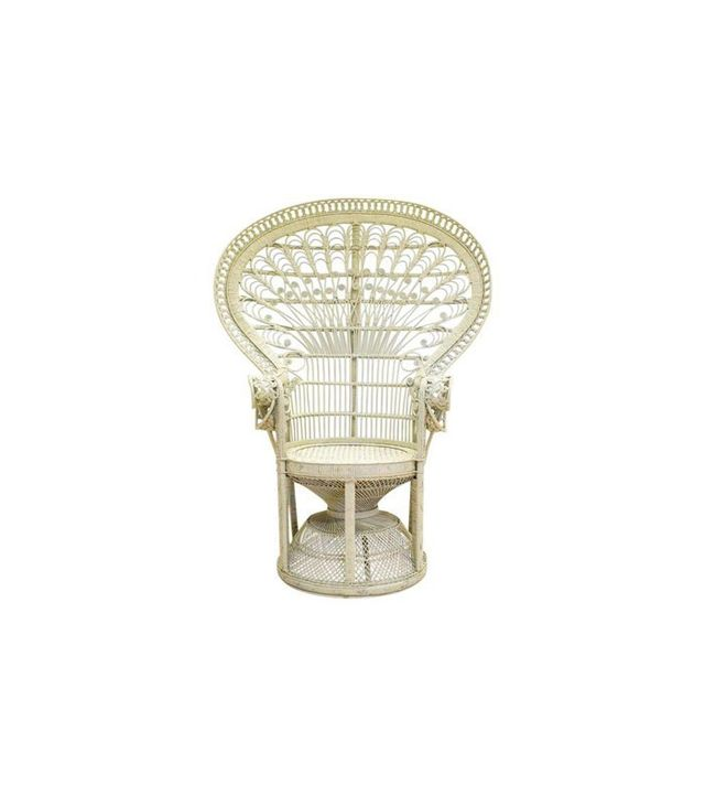 Chairish Rattan Wicker Bohemian Peacock Chair