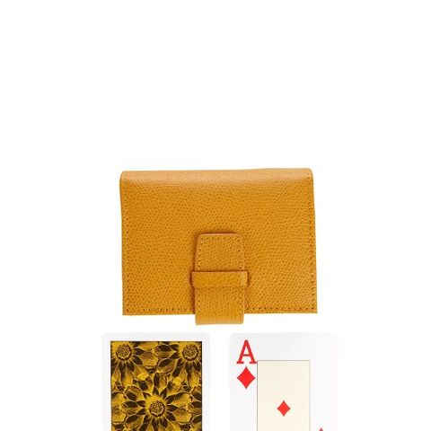 Grained-leather case card set