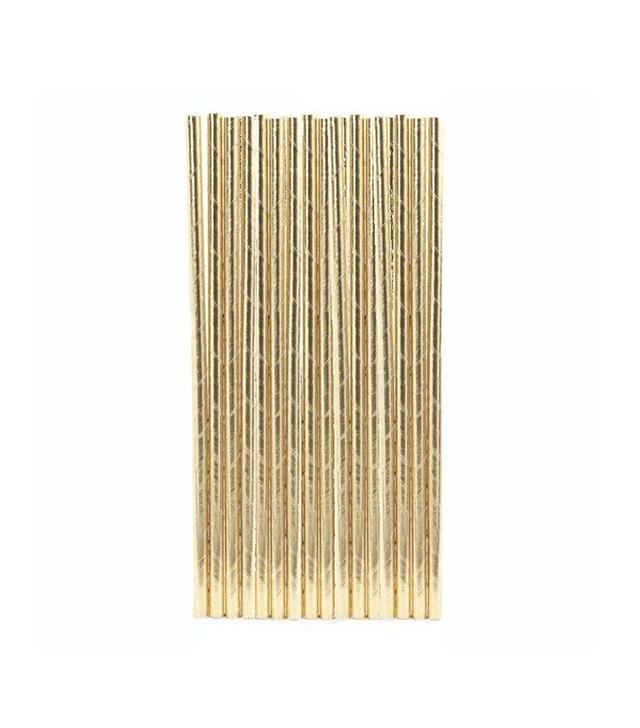 CB2 Gold Straws
